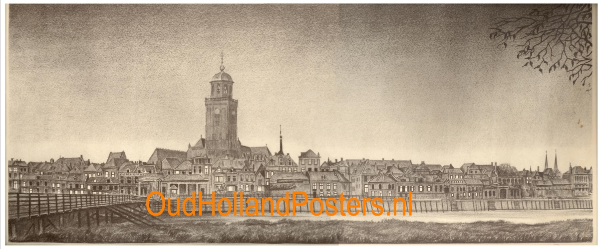 deventer panorama tekening OA 163 ohp